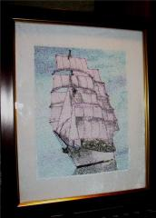 Embroidered photo stitch ship free design