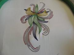 Swirl flower free embroidery design