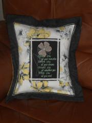Pillow with tulip free embroidery design