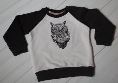 Sweater with Tribal owl embroidery design