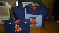 Two bags with love is free embroidery design