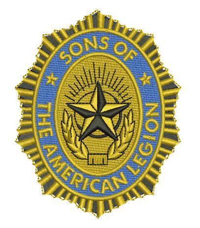 Sons of American legion logo embroidery design