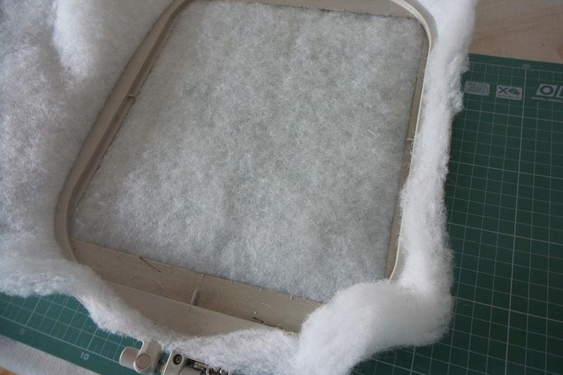 Polyester padding in the hoop