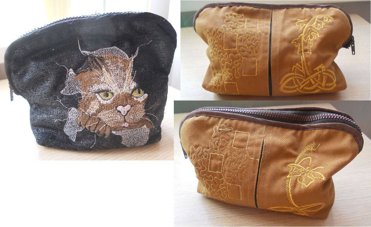 Tote bag with angry cat free embroidery design