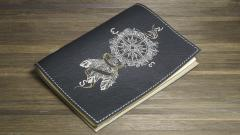 Embroidered cover with Compass embroidery design