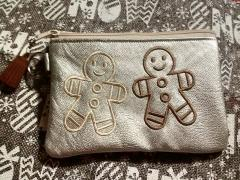 Embroidered handbag with Gingerbread free design