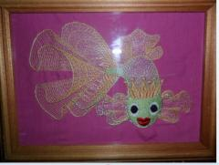 Gold fish machine embroidery design