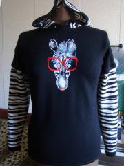 Embroidered jacket with Zebra free design 2