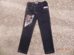 Jeans with cat free embroidery