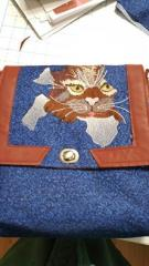 Juno bag with Angry Cat free embroidery design