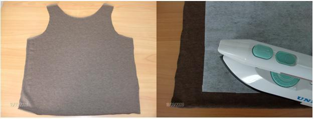 Knitwear t-shirt and iron