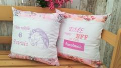 Embroidered cushion with Unicorn design