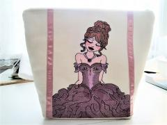 Embroidered bag with Pink princess design