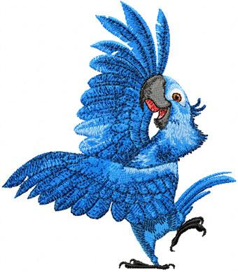 Blu Rio embroidery design