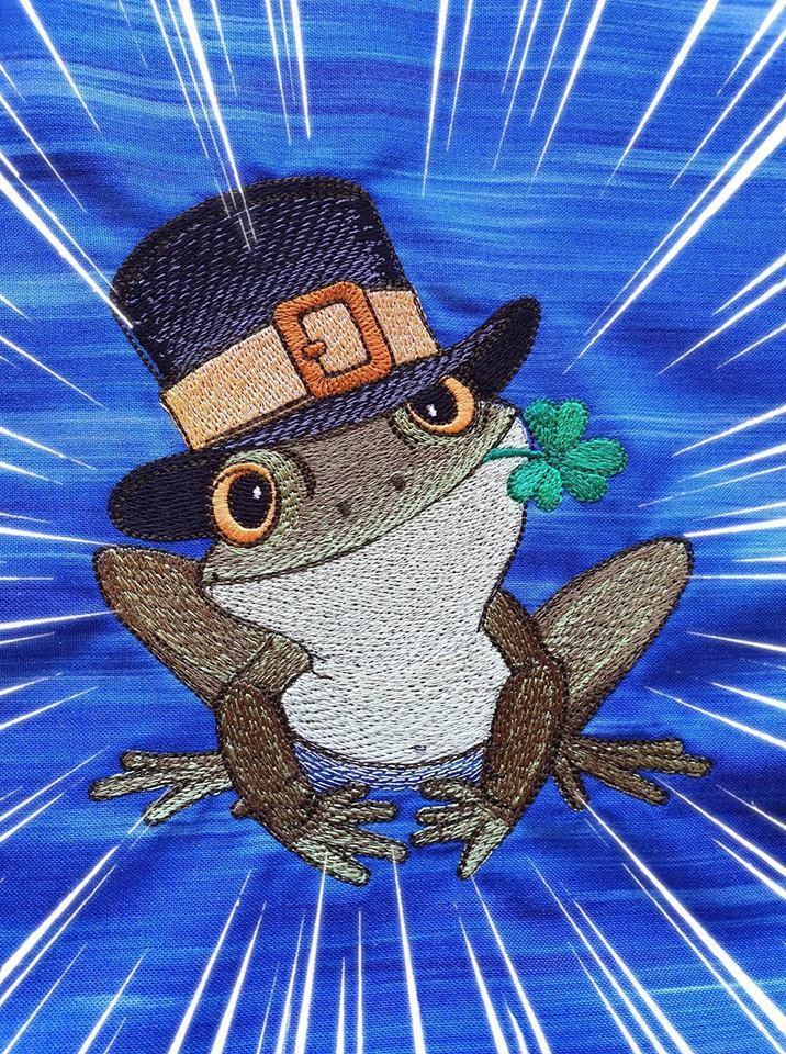 Frog in hat design