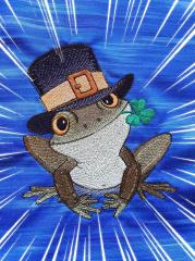 Frog in hat design