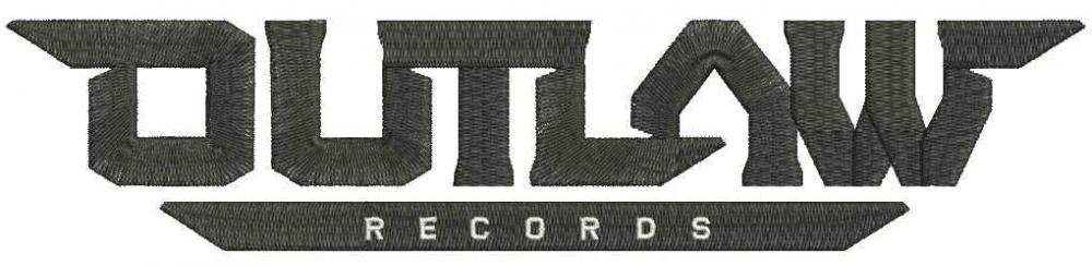 Outlaw records_logo embroidery design