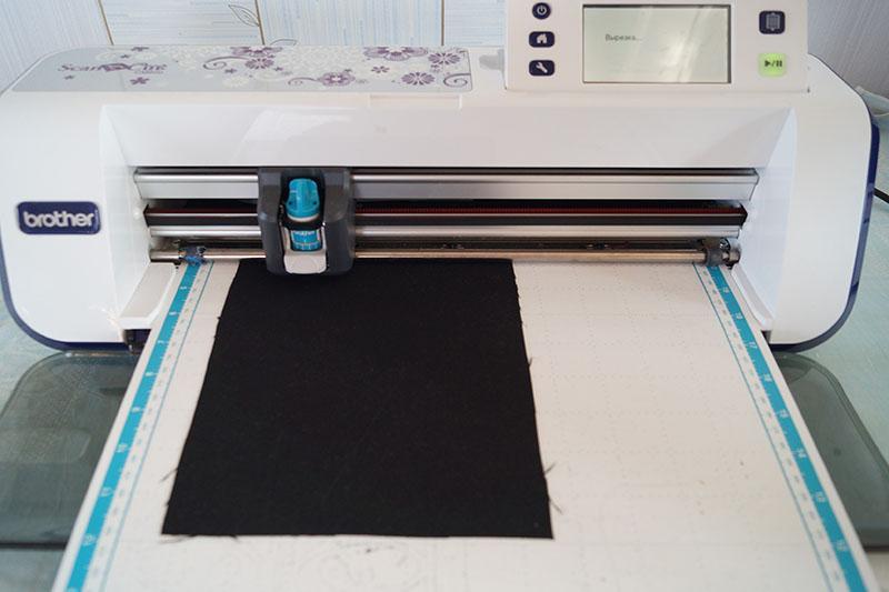 Black fabric on ScunNCut scanning mat