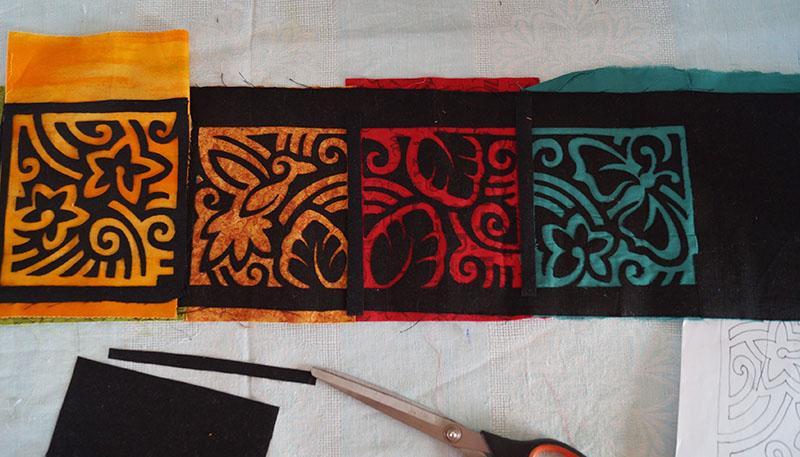 Four-colored applique
