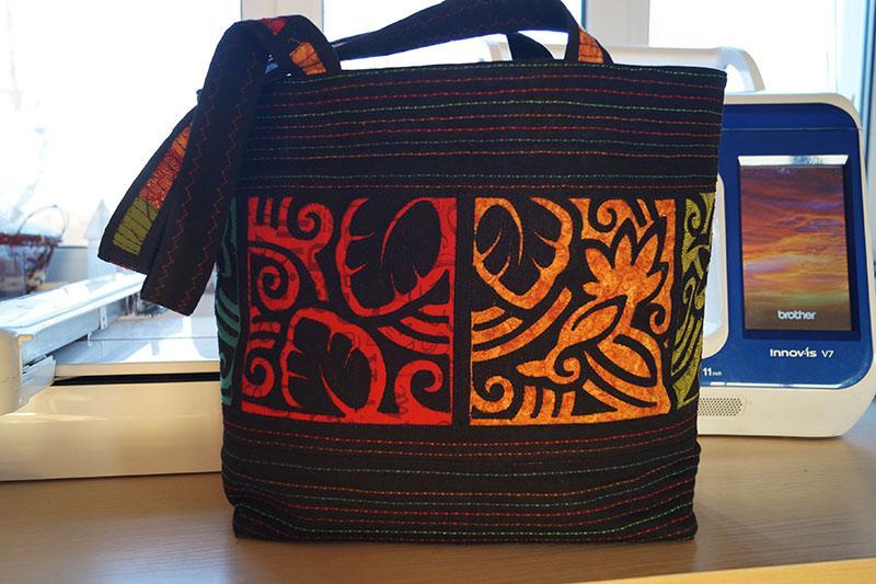 Hawaiian bag ready for use