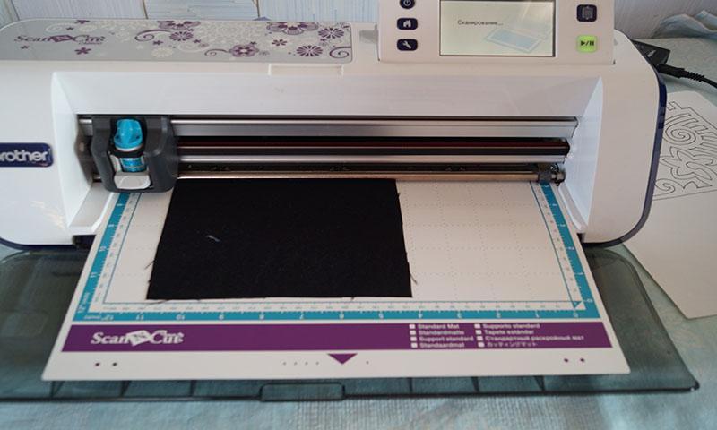 ScanNCut fabric on scanning mat