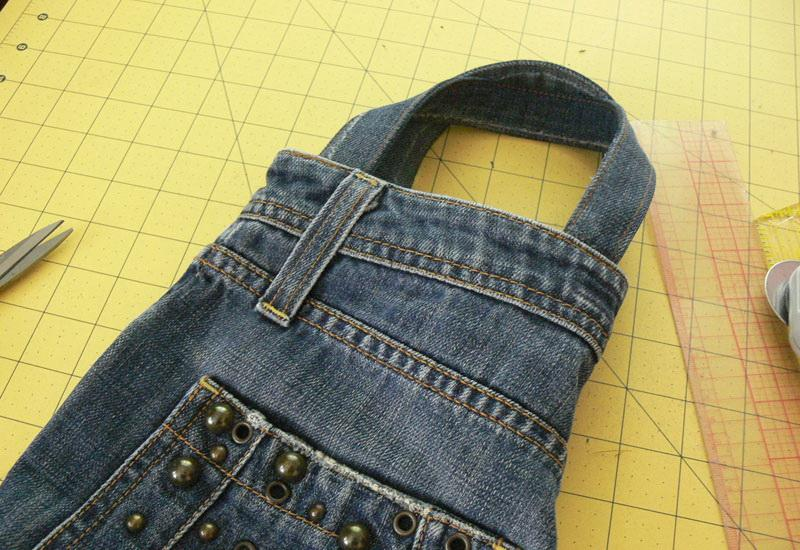 Denim bag for embroidery things