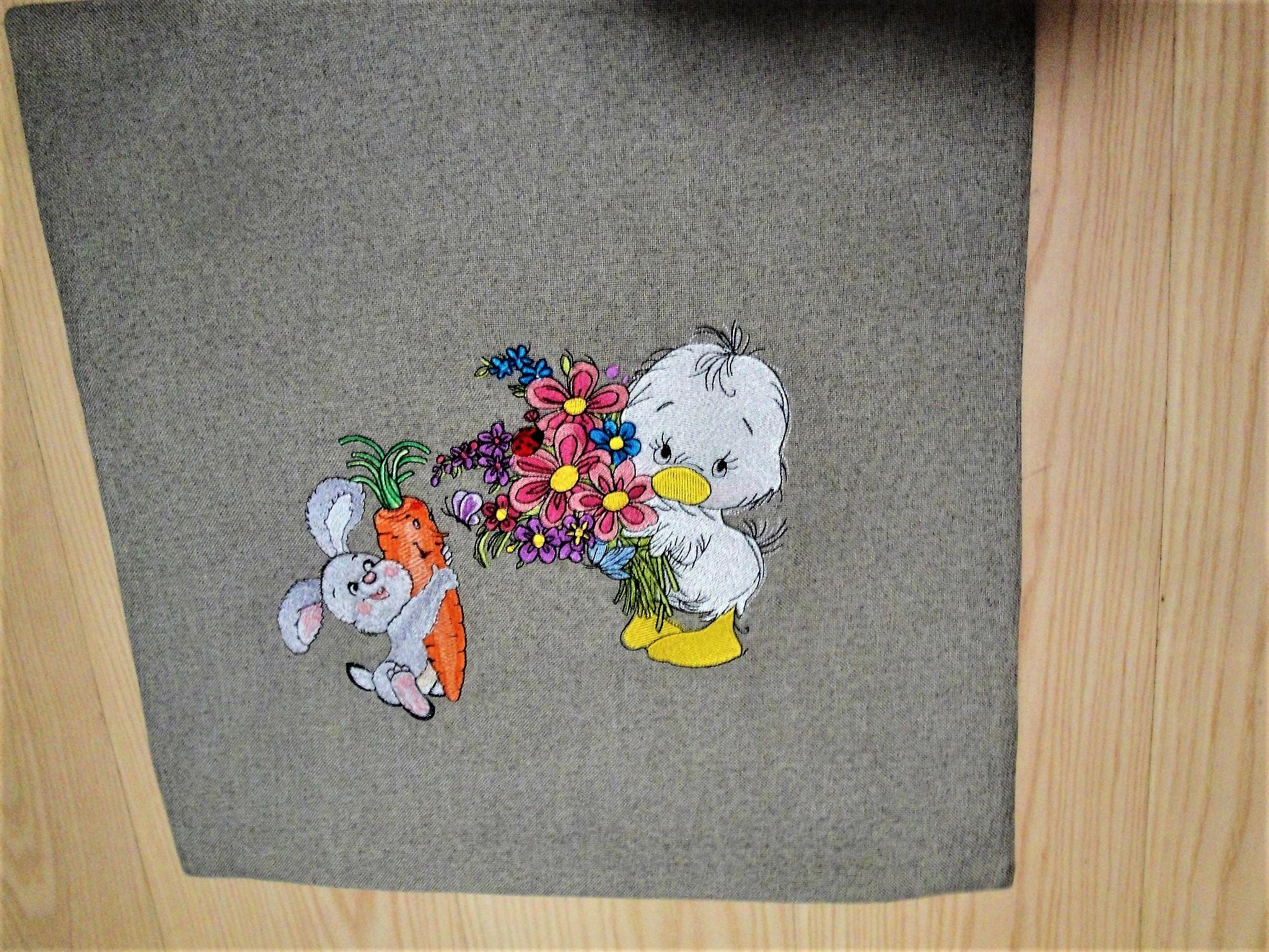 Cartoon characters embroidery design