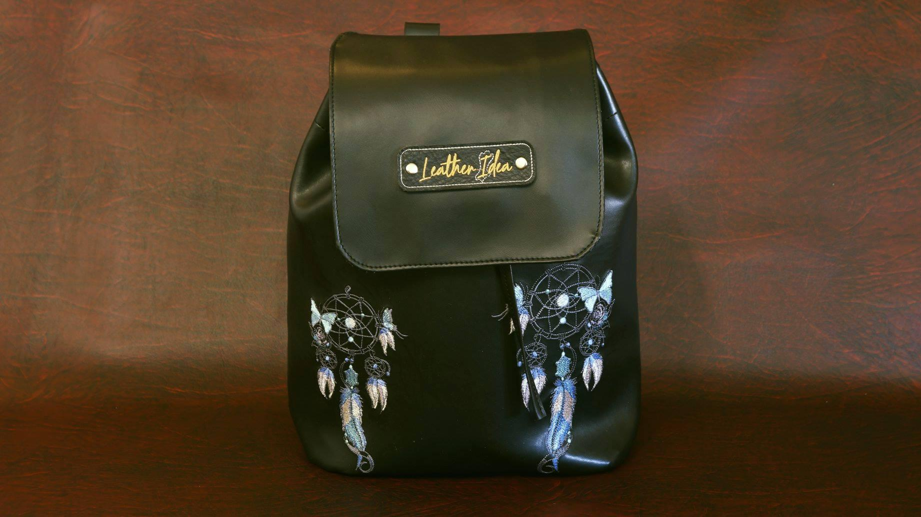 Embroidered backpack with Dreamcatcher design