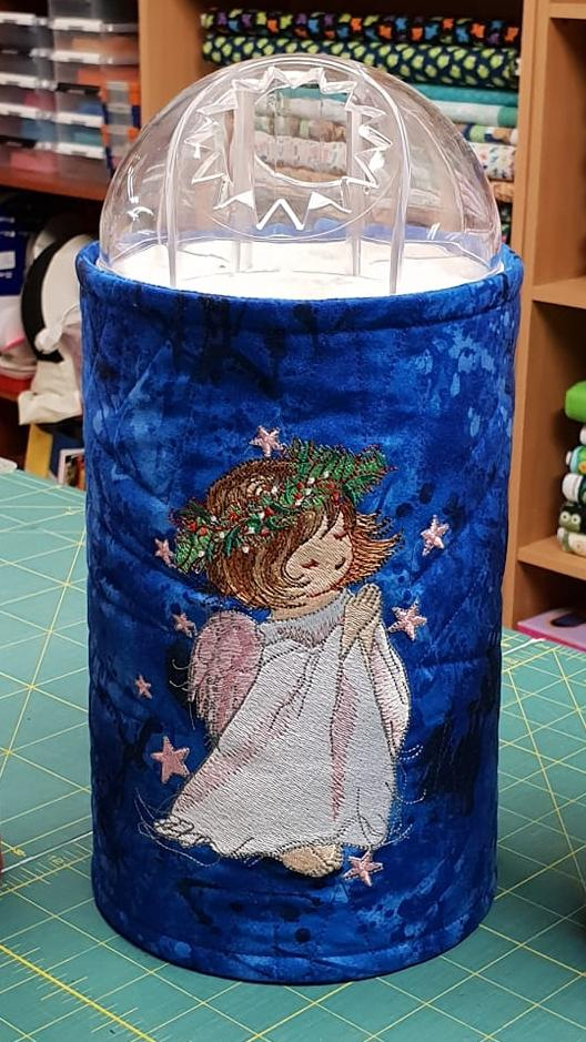 Embroidered basket with Cute angel design