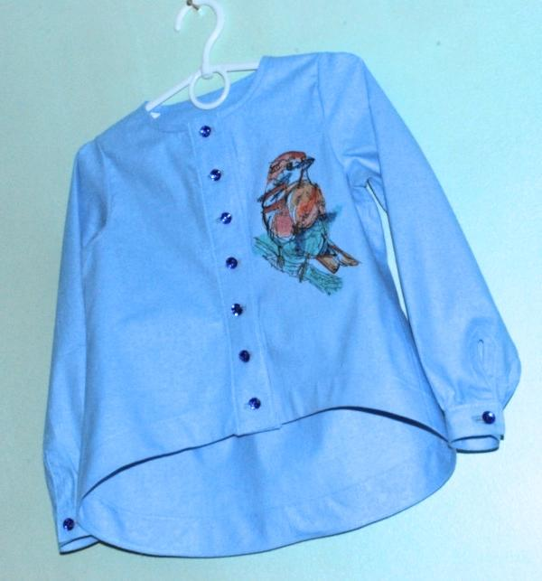 Embroidered blouse with Bird design