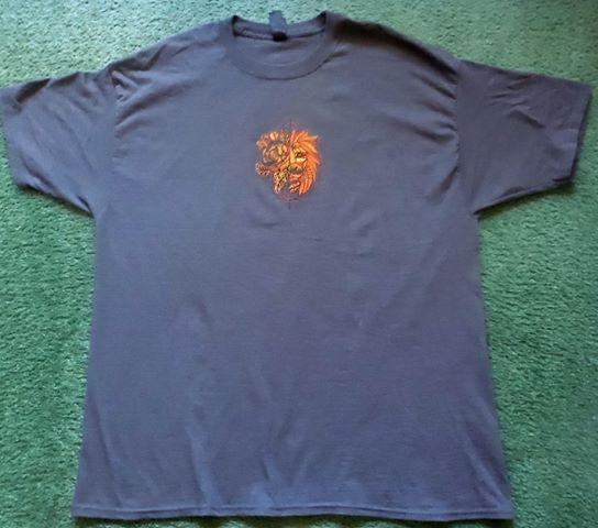 Embroidered t-shirt with lion design
