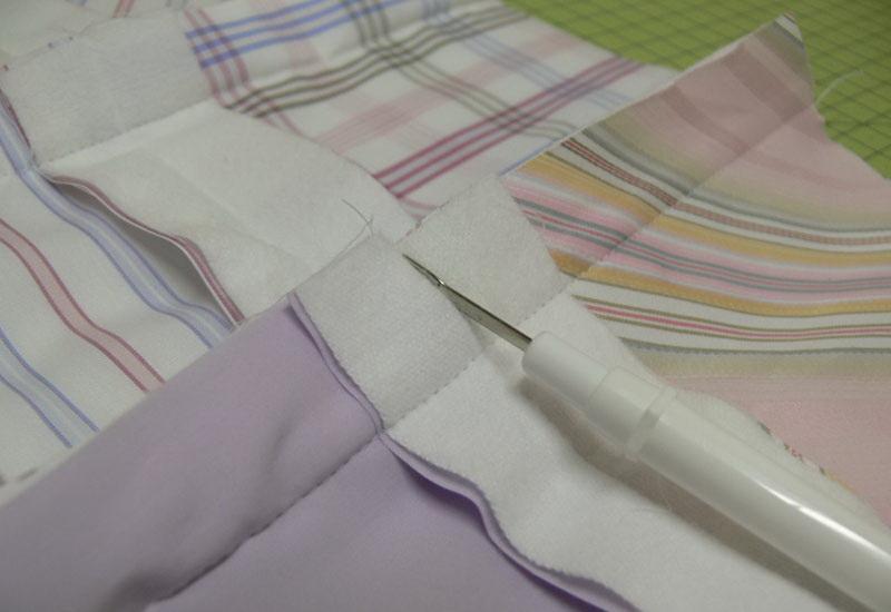 Fabric seams and seam ripper
