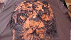 Tiger's muzzle embroidery design