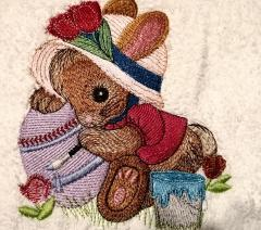 Holidays embroidery design