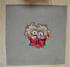 Couple of bears embroidery design