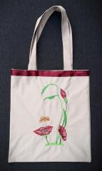 Embroidered bag with Flower spirit