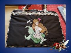 Embroidered bag with Mermaid design