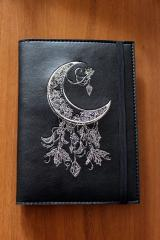 Embroidered cover with Moon embroidery design