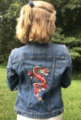 Embroidered jacket with Dragon design