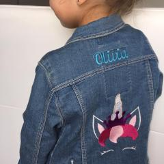 Embroidered jacket with Unicorn design