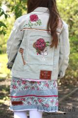 Embroidered jeans set with Floral design