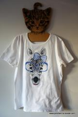 Embroidered t-shirt with Zebra design