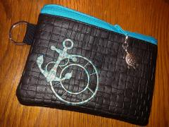 Embroidered handbag with Anchor design