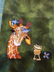 Giraffe and frog design