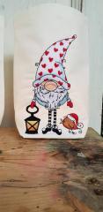 Textile basket with Gnome in cap design