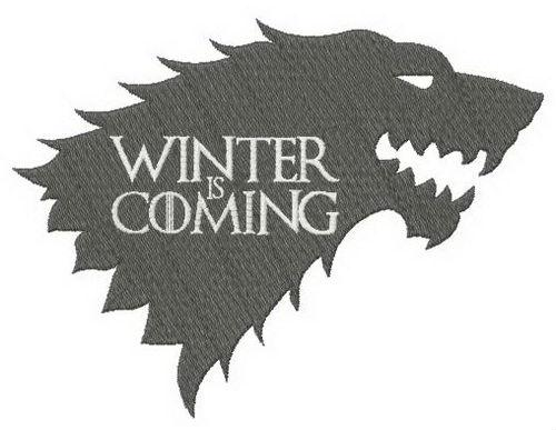 Stark winter is coming machine embroidery design