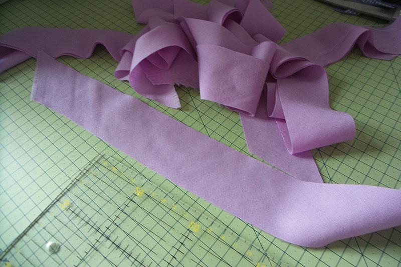 Fabric cut into short strips