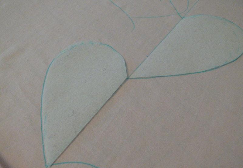 Two halves of a heart cutouts