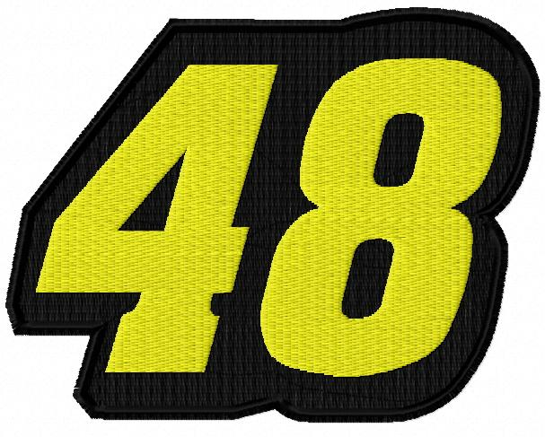Jimmie johnson 48 logo embroidery design