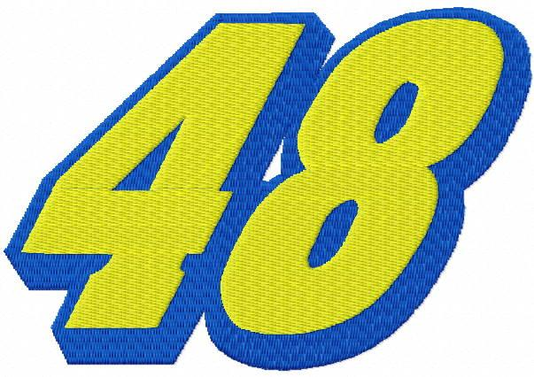 Jimmie Johnson 48 original logo embroidery design